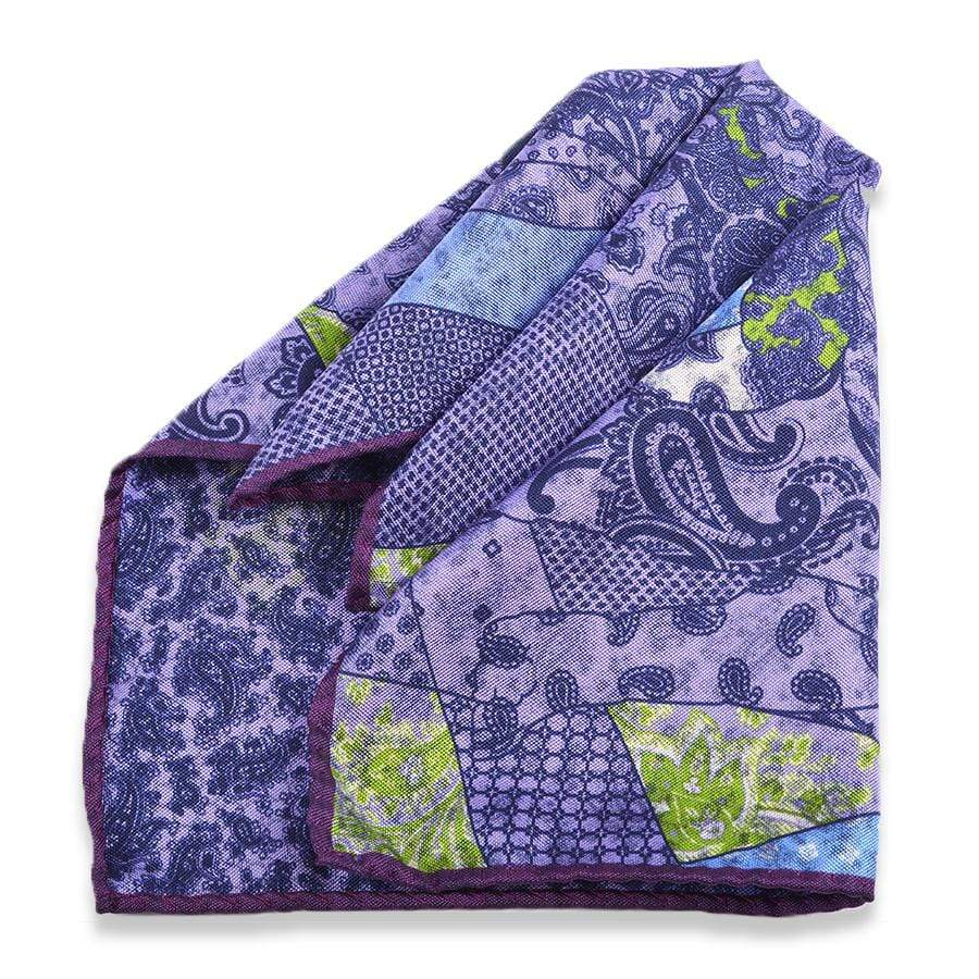 Men's Pocket Square | Lingo Luxe The Purple Prince-Lingo Luxe Bespoke