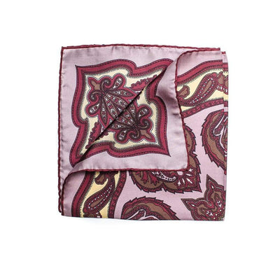 Men's Pocket Square | Lingo Luxe The Rose-Lingo Luxe Bespoke