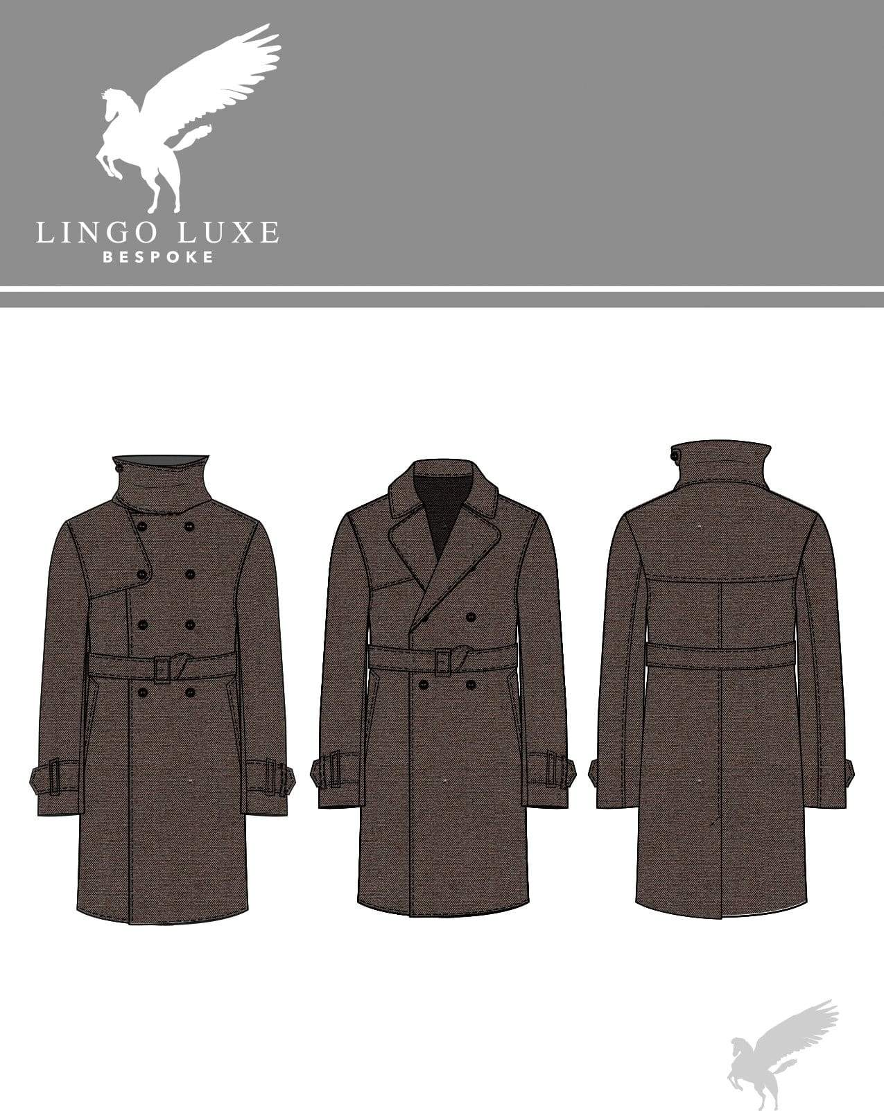 Outerwear | Lingo Luxe The London Trenchcoat | Chocolate-Lingo Luxe Bespoke