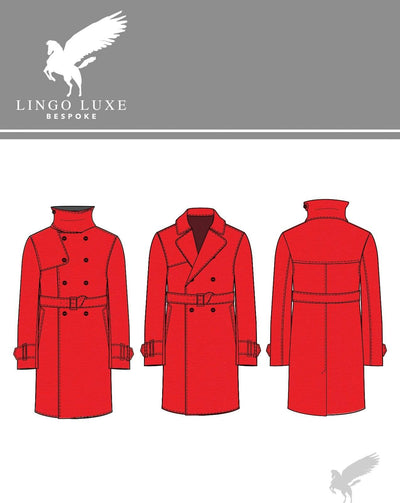 Outerwear | Lingo Luxe The London Trenchcoat | Fire Engine Red-Lingo Luxe Bespoke