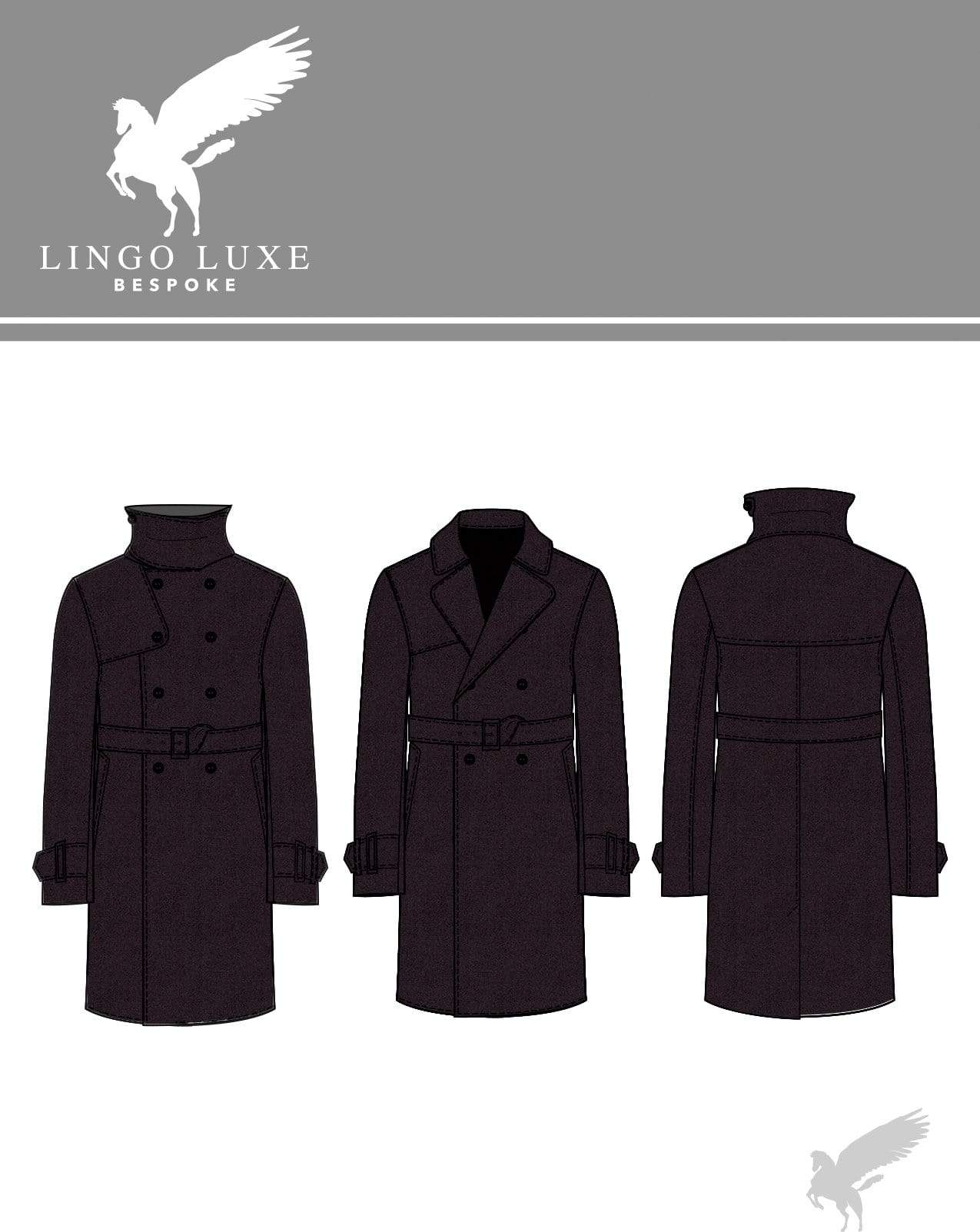 Outerwear | Lingo Luxe The London Trenchcoat | Jet Black-Lingo Luxe Bespoke