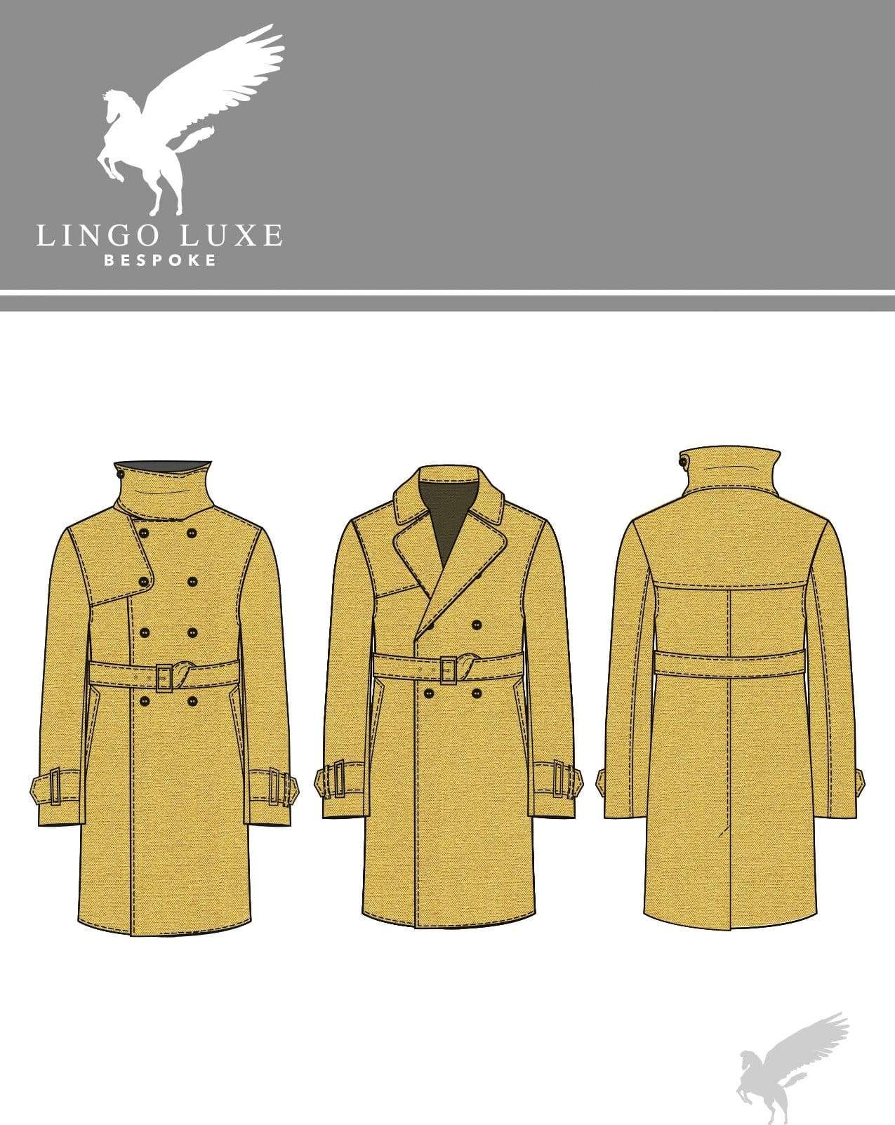 Outerwear | Lingo Luxe The London Trenchcoat | Mustard Grey Poupon-Lingo Luxe Bespoke