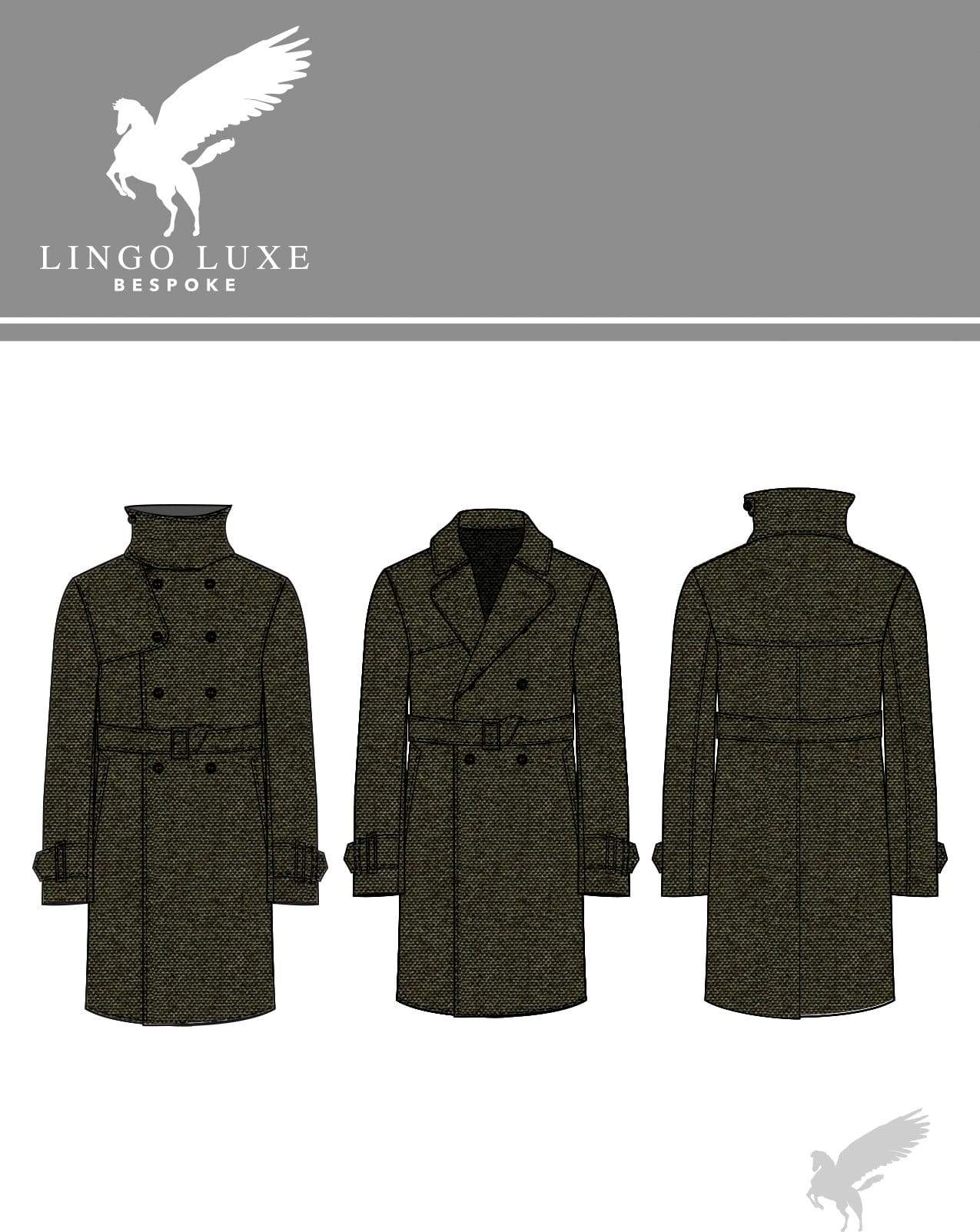 Outerwear | Lingo Luxe The London Trenchcoat | Olive-Lingo Luxe Bespoke