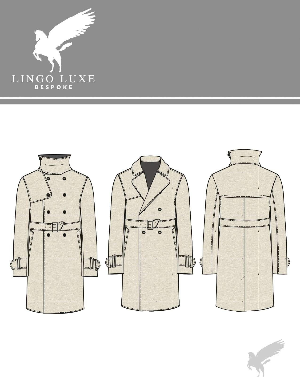 Outerwear | Lingo Luxe The London Trenchcoat | Sand-Lingo Luxe Bespoke