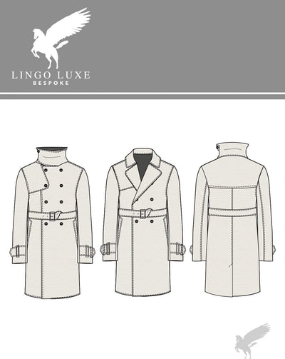 Outerwear | Lingo Luxe The London Trenchcoat | True Khaki-Lingo Luxe Bespoke