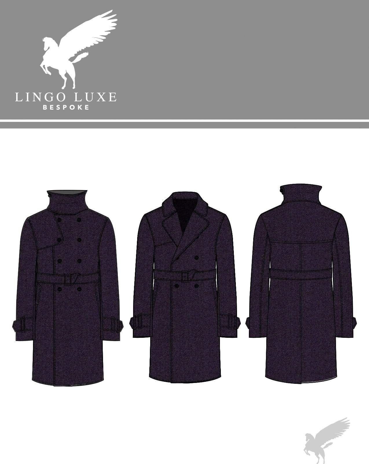 Outerwear | Lingo Luxe The London Trenchcoat | True Navy-Lingo Luxe Bespoke