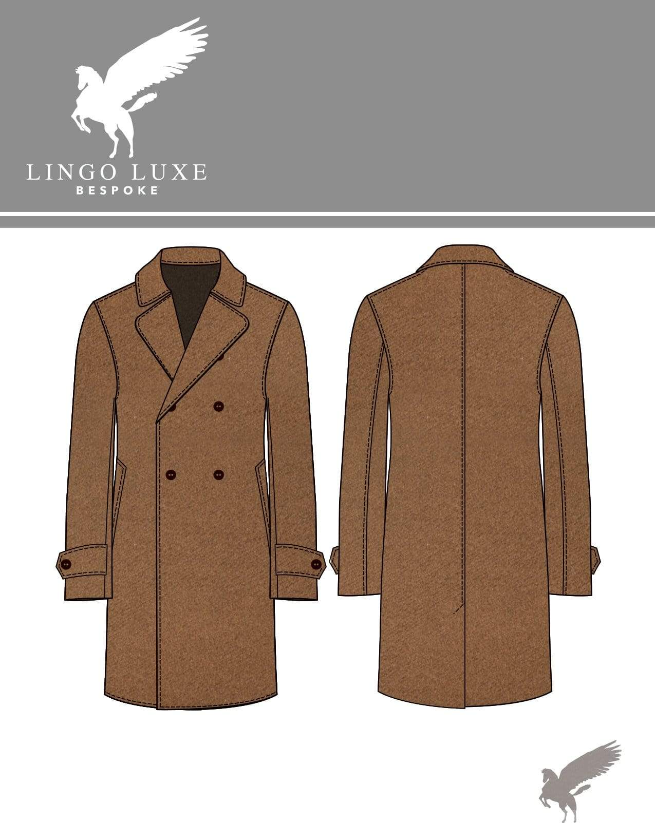Outerwear | Lingo Luxe The Stately Overcoat | Blonde Coffee-Lingo Luxe Bespoke