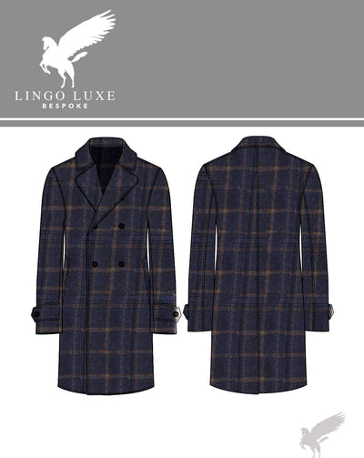 Outerwear | Lingo Luxe The Stately Overcoat | Bluey-Lingo Luxe Bespoke