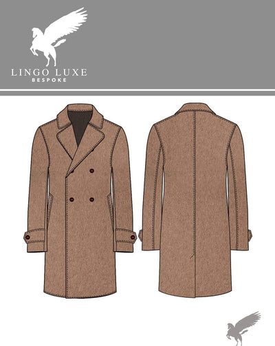 Outerwear | Lingo Luxe The Stately Overcoat | Camel-Lingo Luxe Bespoke