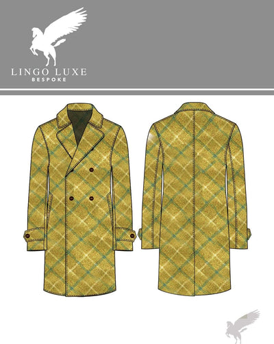 Outerwear | Lingo Luxe The Stately Overcoat | D'or Blue-Lingo Luxe Bespoke