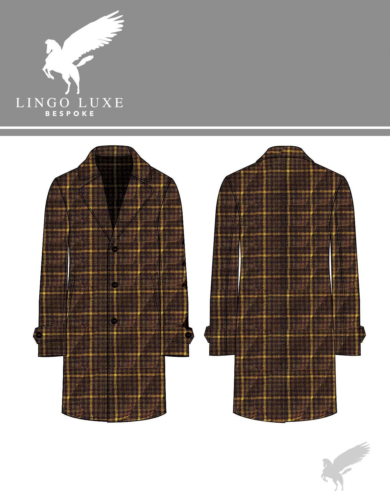 Outerwear | Lingo Luxe The Stately Overcoat | Golden Brown Cake-Lingo Luxe Bespoke