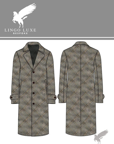 Outerwear | Lingo Luxe The Stately Overcoat | Grey Goldenpane-Lingo Luxe Bespoke