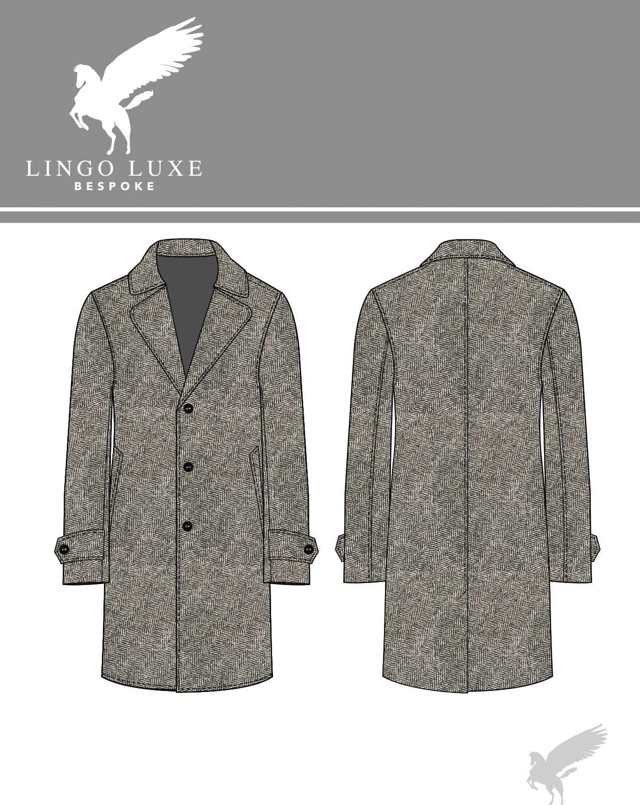 Outerwear | Lingo Luxe The Stately Overcoat | Grey Herring-Lingo Luxe Bespoke