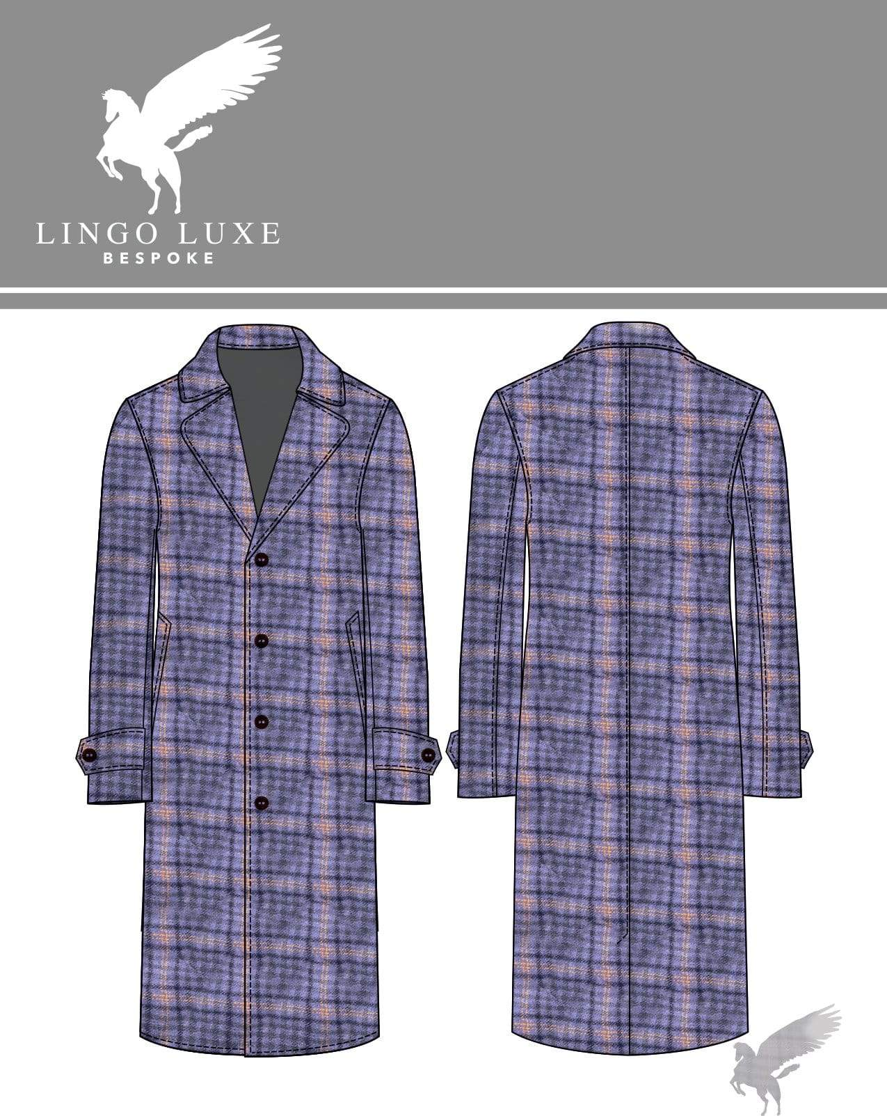 Outerwear | Lingo Luxe The Stately Overcoat | Purple Hazey-Lingo Luxe Bespoke