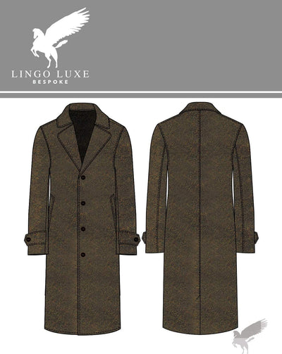 Outerwear | Lingo Luxe The Stately Overcoat | Rusty Herring-Lingo Luxe Bespoke