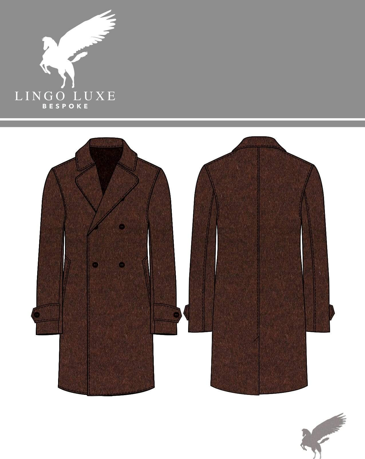 Outerwear | Lingo Luxe The Stately Overcoat | Rusty Nail-Lingo Luxe Bespoke