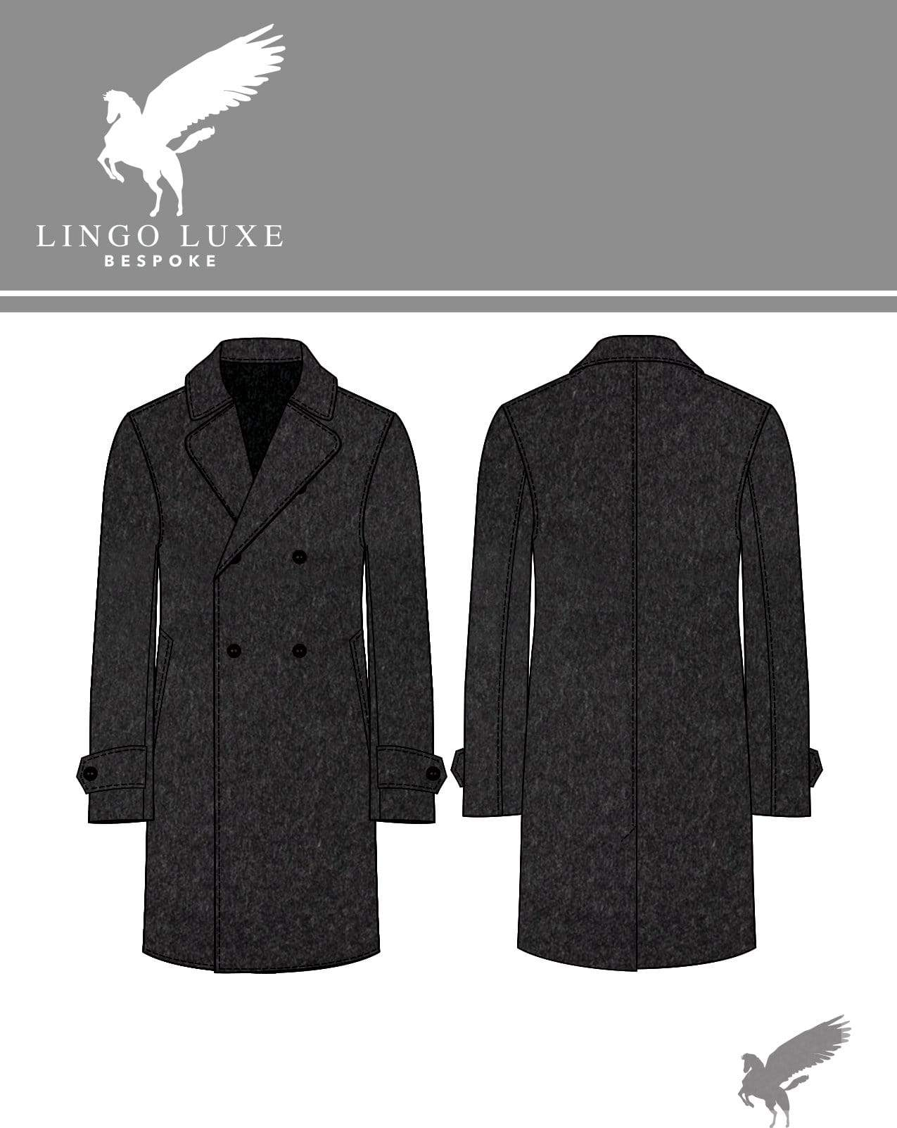 Outerwear | Lingo Luxe The Stately Overcoat | Sooty Coal-Lingo Luxe Bespoke