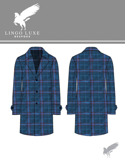 Outerwear | Lingo Luxe The Stately Overcoat | Turquoise Dream-Lingo Luxe Bespoke