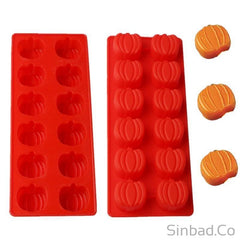1Pc 12 Even Pumpkin Shape Silicone Cake Mold