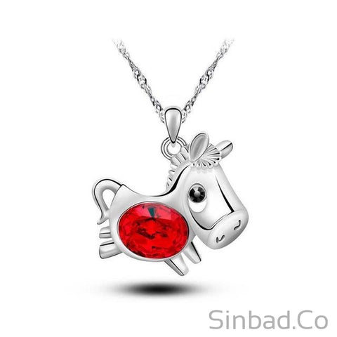 2017 Cute Lucky Pony-Necklaces-Sinbadco