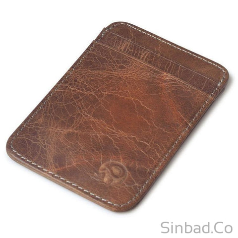 2017 Retro Genuine Leather Minimalist Wallet-wallet-Sinbadco