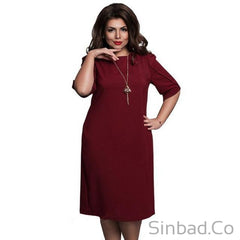 2017 Straight Dress Plus Size