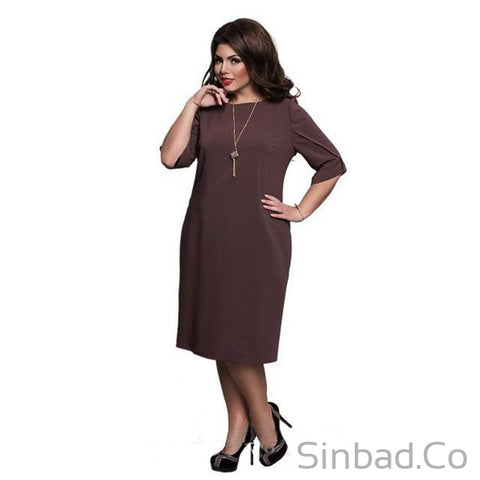 2017 Straight Dress Plus Size-Dress-Sinbadco