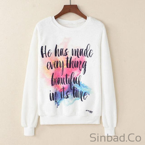2018 Elastic Cartoon Animal Fruit Print Sweatshirt-Sinbadco