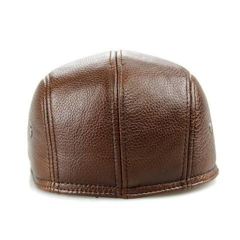 2018 Fitted Adult Design Men's 100% Genuine Leather Cap-Sinbadco