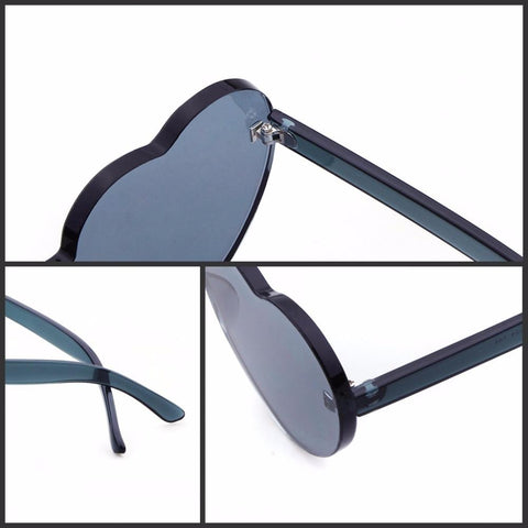 2018 Rimless Frame Heart Shape Sunglasses - 9 COLORS-Sinbadco