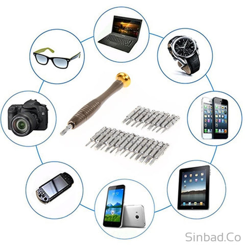 25 in 1 Repair opening Tool Kit for iPhone PC Camera Watch-DIY-Sinbadco