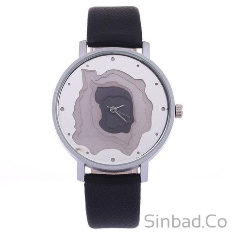 3D Face Wood Grain Dial Unisex Vintage Watch-Sinbadco