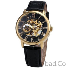 3D Mechanical Leather Skeleton Royal Design Watch