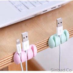 3Pcs Colorful Silicone Cable Holder