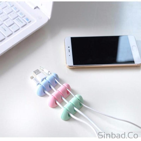 3Pcs Colorful Silicone Cable Holder-Cable holder-Sinbadco