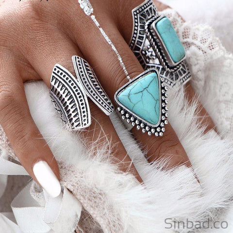 3Pcs Set Boho Finger Ring-Rings-Sinbadco