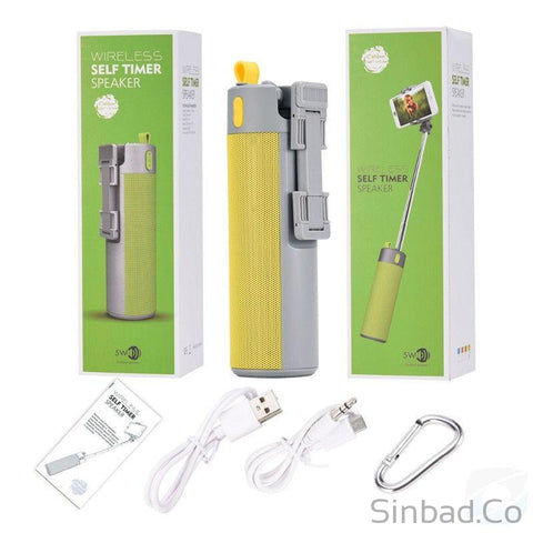 4 in 1 Power Bank+Selfie Stick, Speaker & Holder-Phone holder-Sinbadco