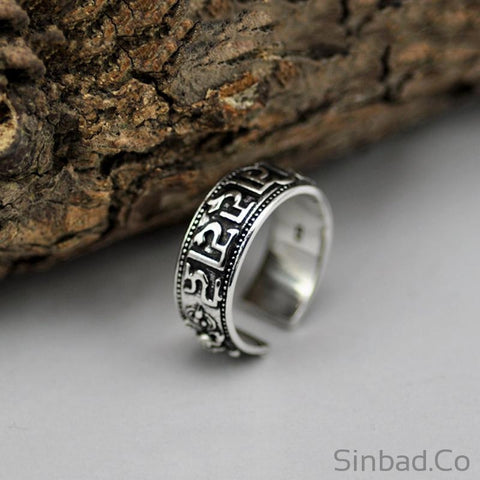 Adjustable Lover S925 Solid Thai Silver Ring-Rings-Sinbadco