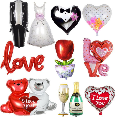 Aluminium Foil Inflatable Balloon Wedding and Engagement Party Decoration-Sinbadco