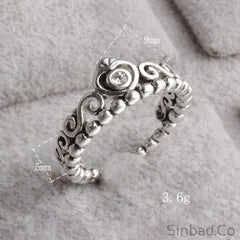 Authentic Thai 925 Sterling-Silver Princess Ring