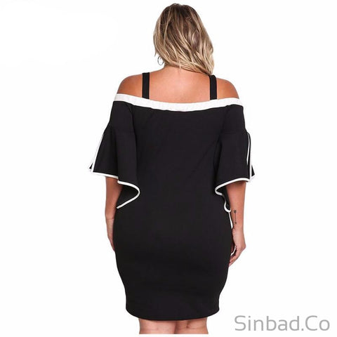 Autumn Party Plus Size Bodycon Dress-Dress-Sinbadco