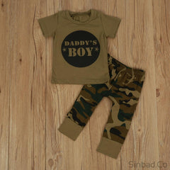 Baby Camouflage T Shirt+Long Pants+Headband