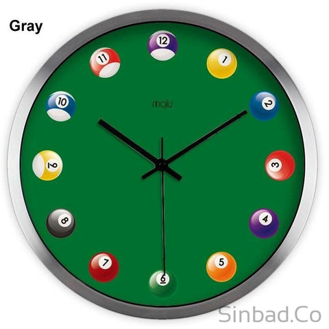 Billiards Art Wall Clock-Sinbadco