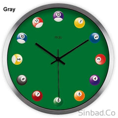 Billiards Art Wall Clock