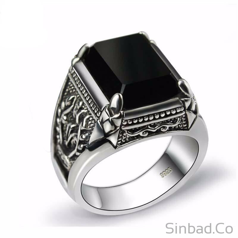 ring products road rings stone man black vintage gold to