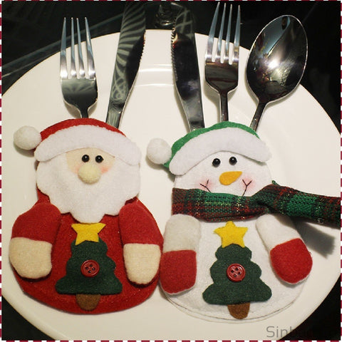Christmas Cutlery Suit Holders Pockets-Sinbadco