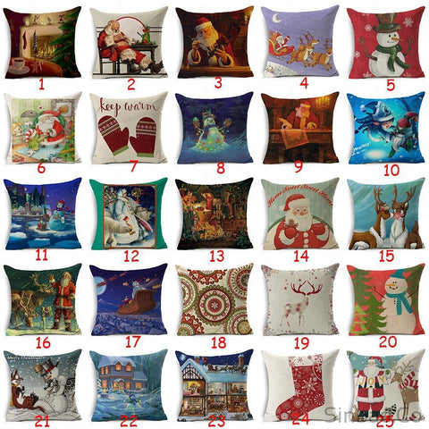 Christmas Style Pillows Cover-Sinbadco