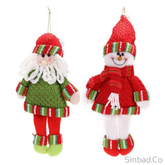 Christmas Tree Snowman Pendant Wall and Closet Hanging Gifts