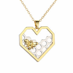 Classic Heart Hollow Honeycomb necklace - Fashion Jewelry Gift