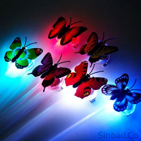 Colorful Butterfly Glow Hair Braid Extensions-Sinbadco